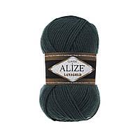 Пряжа для вязания Alize Lanagold 426 темно-зеленый (Ализе Лана голд)