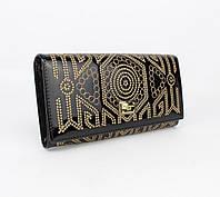 Кошелек лаковый с вышивкой Dolce&Gabbana 60101 черный, расцветки, фото 1