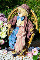 Коллекционная старинная кукла! Клоун,Арлекин! Германия! 39 см.