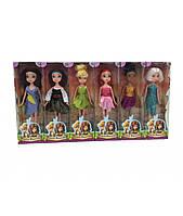 """Набор  из серии """"Tinker Bell"""" 6 кукол  Динь динь, пиратка, розетта, фея света,серебрянка, фея зимы"""