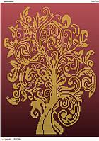 """""""Дерево изобилия"""".  Схема для вышивки бисером"""