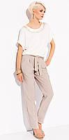 Летние женские брюки Anna Zaps бежевого цвета, коллекция весна-лето 2015