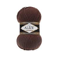 Пряжа для вязания Alize Lanagold 583 корица меланж (Ализе Лана голд)