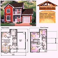 Проект каркасно-щитового дома с заполнением 111 м2. Проект дома бесплатно при заказе строительства