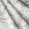 Ткань для штор серого цвета с классическим цветочным орнаментом