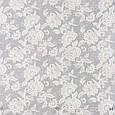 Ткань для штор серого цвета с классическим цветочным орнаментом, фото 2