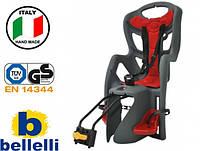 Велокрісло Bellelli Pepe Італія на раму Сіре, фото 1