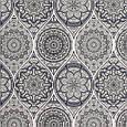 Ткань для штор с абстрактным рисунком серо-синего цвета, фото 2