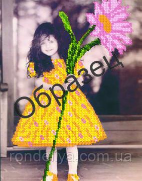 Схема для вышивки бисером «Маленькая девочка»