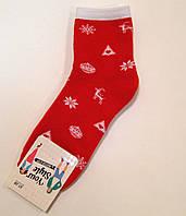 Женские носки с новогодним рисунком маровые хлопковые