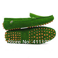 Балетки женские..Женские туфли. Зеленый