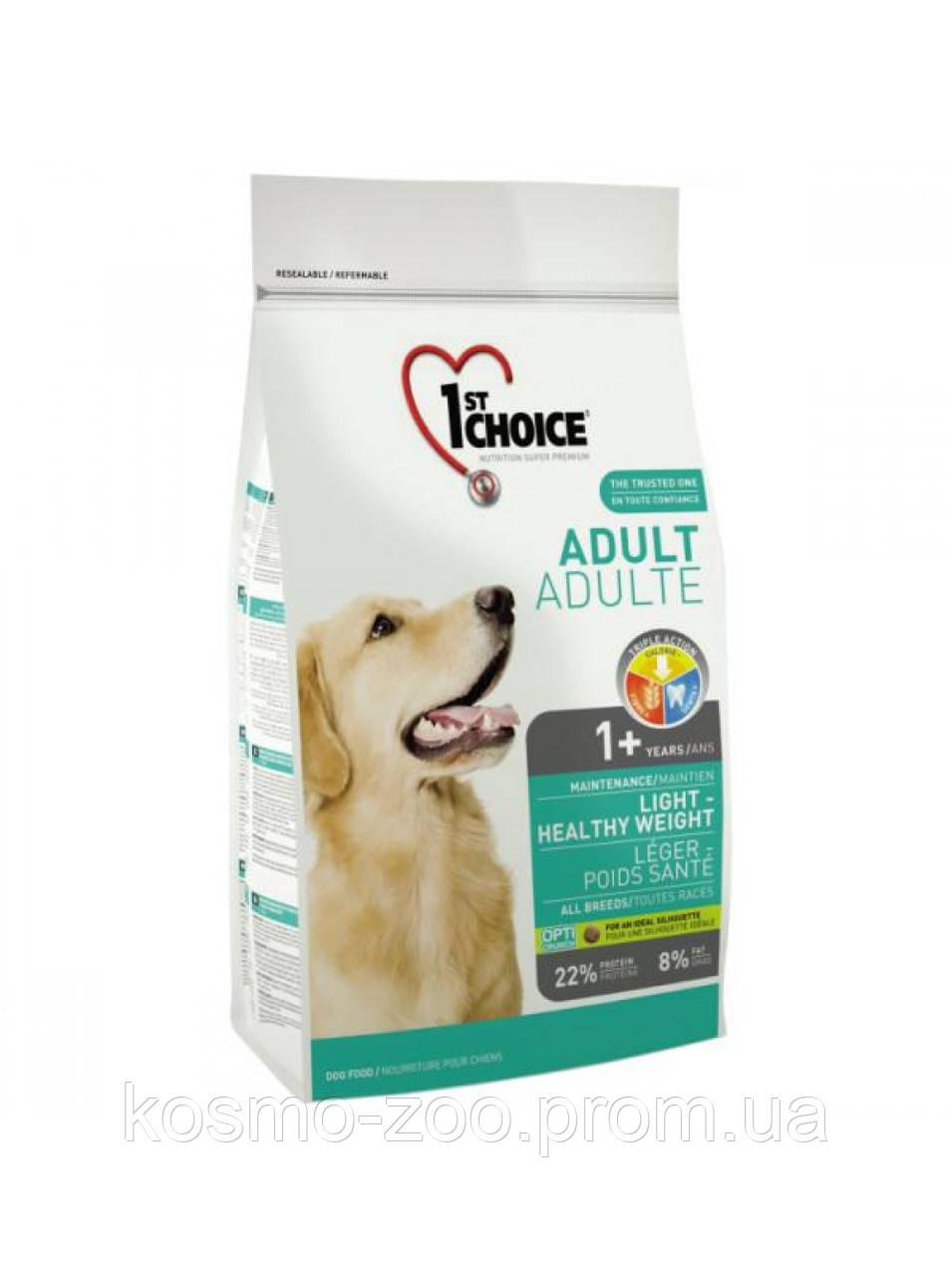 Сухой корм Фест Чойс (1st Choice Light Healthy Weight) малокалорийный для собак с избыточным весом, 12 кг