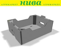 Лоток Універсальний чорний клеєний 391*289*208 мм із гофрокартону Україна