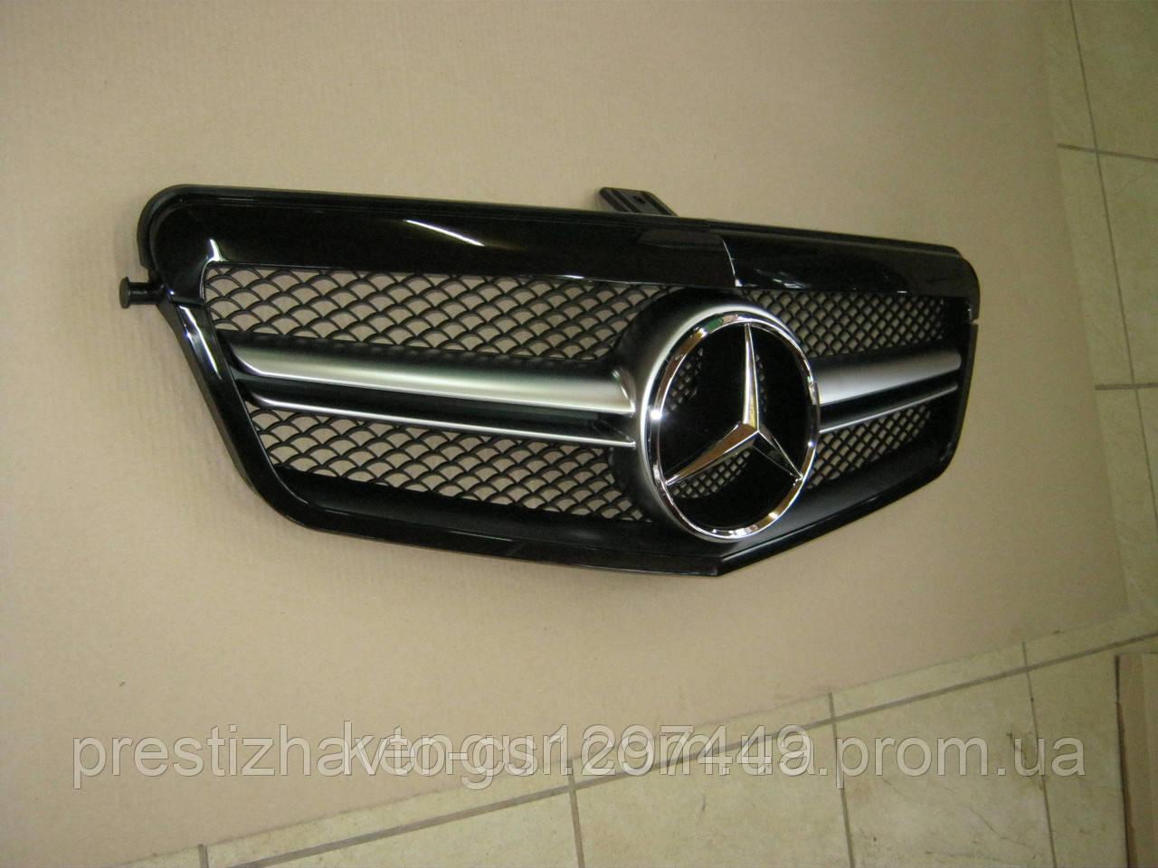 Решетка радиатора на Mercedes E-Сlass W212 (2009-2013)