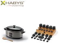 Набор бальзатовых камней 45 штук с нагревателем 6 л. HABYS