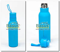 Термос-бутылка из нержавеющей стали soft-ouch 0,475л (голубой) Kamille KM-2020-4