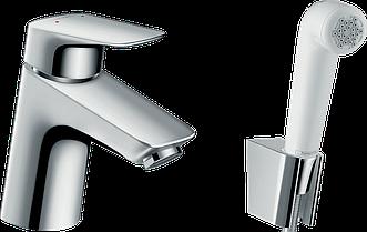 Змішувач для раковини Hansgrohe Logis з гігієнічним душем, шланг 1,60 м 71290000