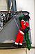 Новогодний декор Санта Клаус на лестнице, Дед Мороз на лестнице 90 см, фото 3