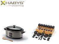 Набор бальзатовых камней 50 штук с нагревателем 6 л. HABYS