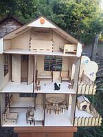 """Кукольный домик + комплект мебели """"Макси"""""""