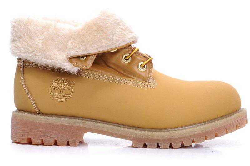 Женские ботинки Тимберленд original Timberland Roll Top 01W С МЕХОМ рыжие