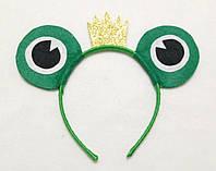 Карнавальная маска обруч Царевны лягушки