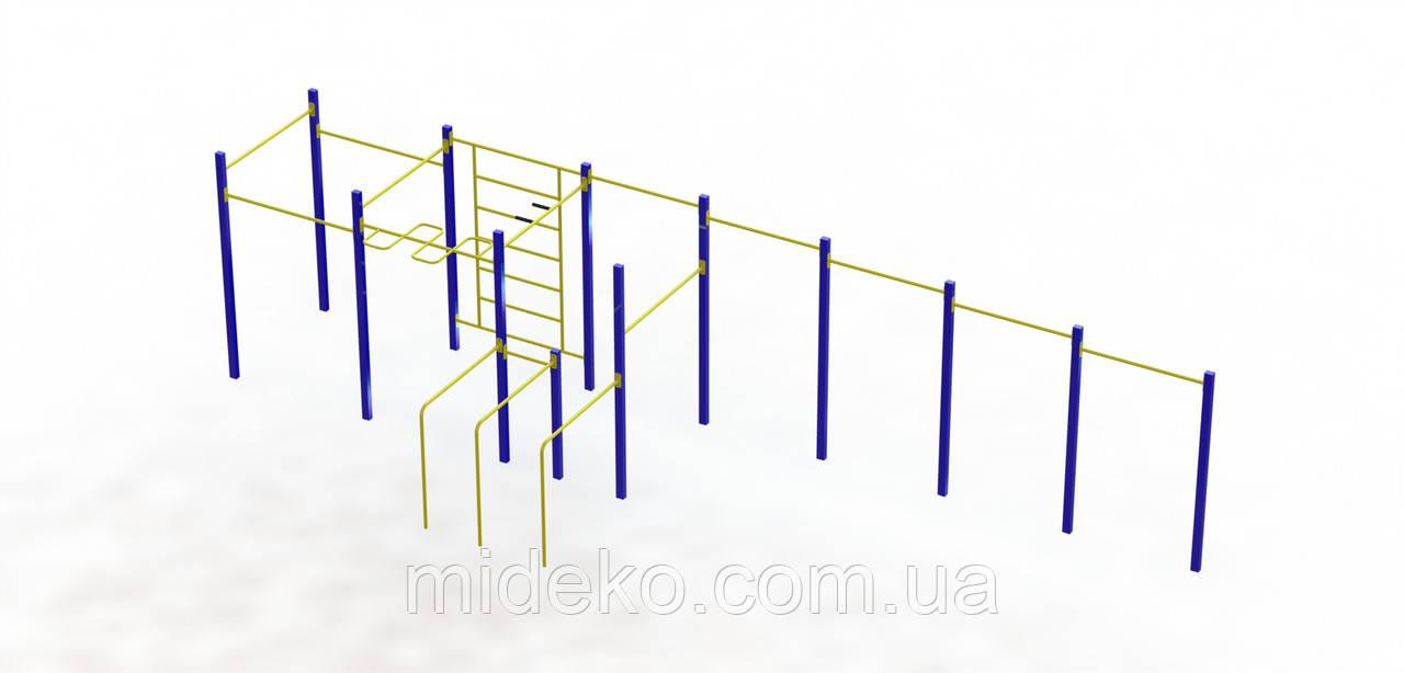 """Спортивний комплекс """"Воркаут"""" на фланцях 201.4"""
