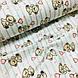 Ткань поплин мишки с розовыми воздушными шариками на мятной полоске на белом (ТУРЦИЯ шир. 2,4 м) №32-115, фото 4
