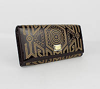 Кошелек лаковый с вышивкой Dolce&Gabbana 60101 темно-марсаловый, расцветки, фото 1