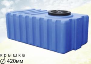 Бак пластмасовий 1000 літрів квадратний