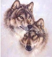 """Набор алмазной вышивки """"Пара волков"""""""