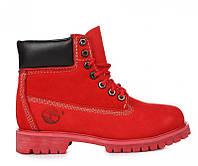 Женские ботинки Тимберленд original Timberland 6 inch Ruby Red красные  оригинал 5ada07086ab3a