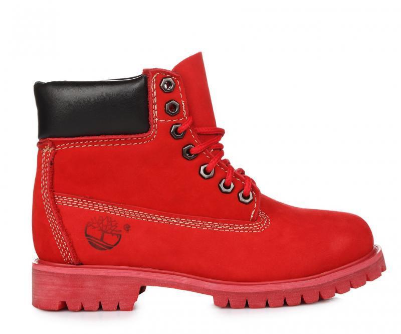 Женские ботинки Тимберленд original Timberland 6 inch Ruby Red красные