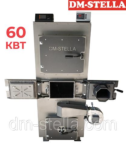 Пиролизный котел с пеллетной горелкой 60 кВт DM-STELLA, фото 2
