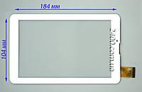 Сенсор Nomi C07007 Polo - тачскрин для планшета Номи С07007 Поло белый 30 pin 184*104 мм, тест 100%, фото 1
