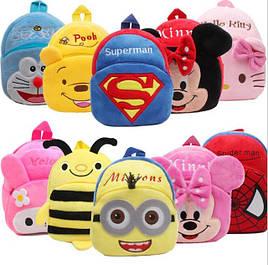 Детские плюшевые рюкзачки