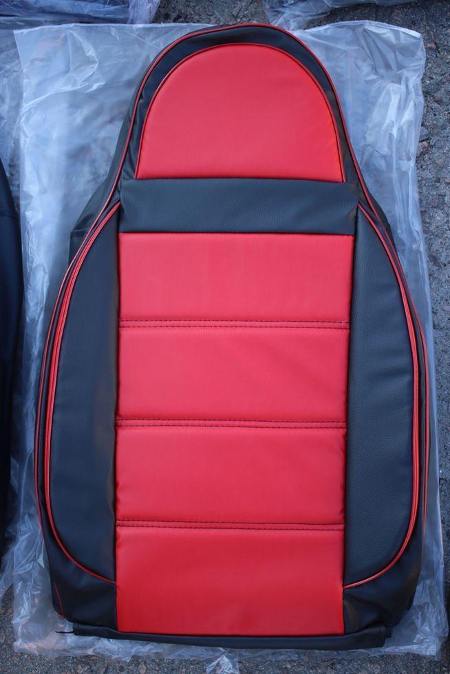 Чехлы на сиденья Саманд ЛХ (Samand LX) (универсальные, кожзам/автоткань, пилот) Черно-белый