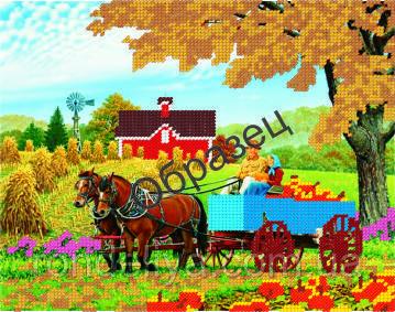 Схема для вышивки бисером «Осенний урожай»