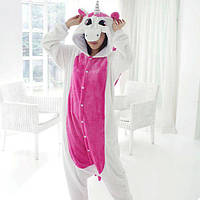 Пижама Кигуруми Единорог Розовый с крыльями (L)
