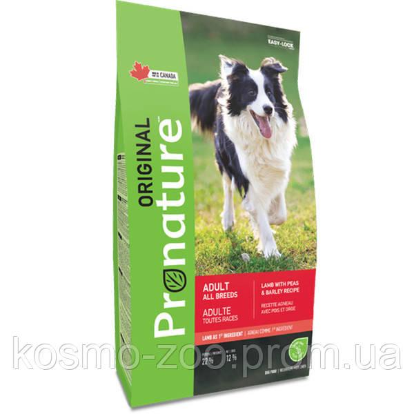 Сухой корм Пронатюр (Pronature Original Lamb Peas&Barley) ягненок с горохом и ячменем для собак, 11.3 кг
