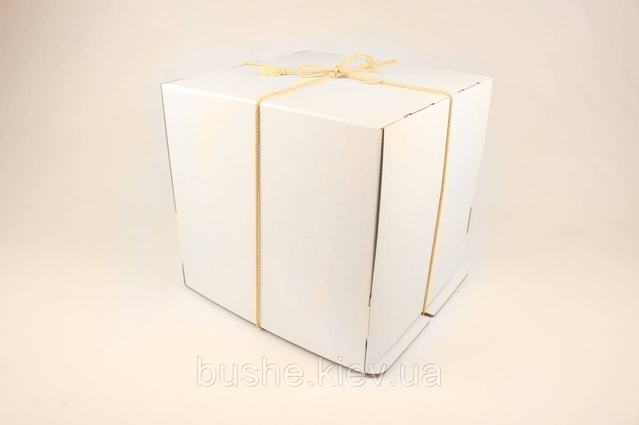 Коробка ГОФР / 360х360х200 мм / ГОФР-Белая / б.о. / для торт
