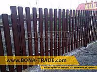 Ворота распашного типа для штакетника с односторонним заполнением секций 2000, 6000