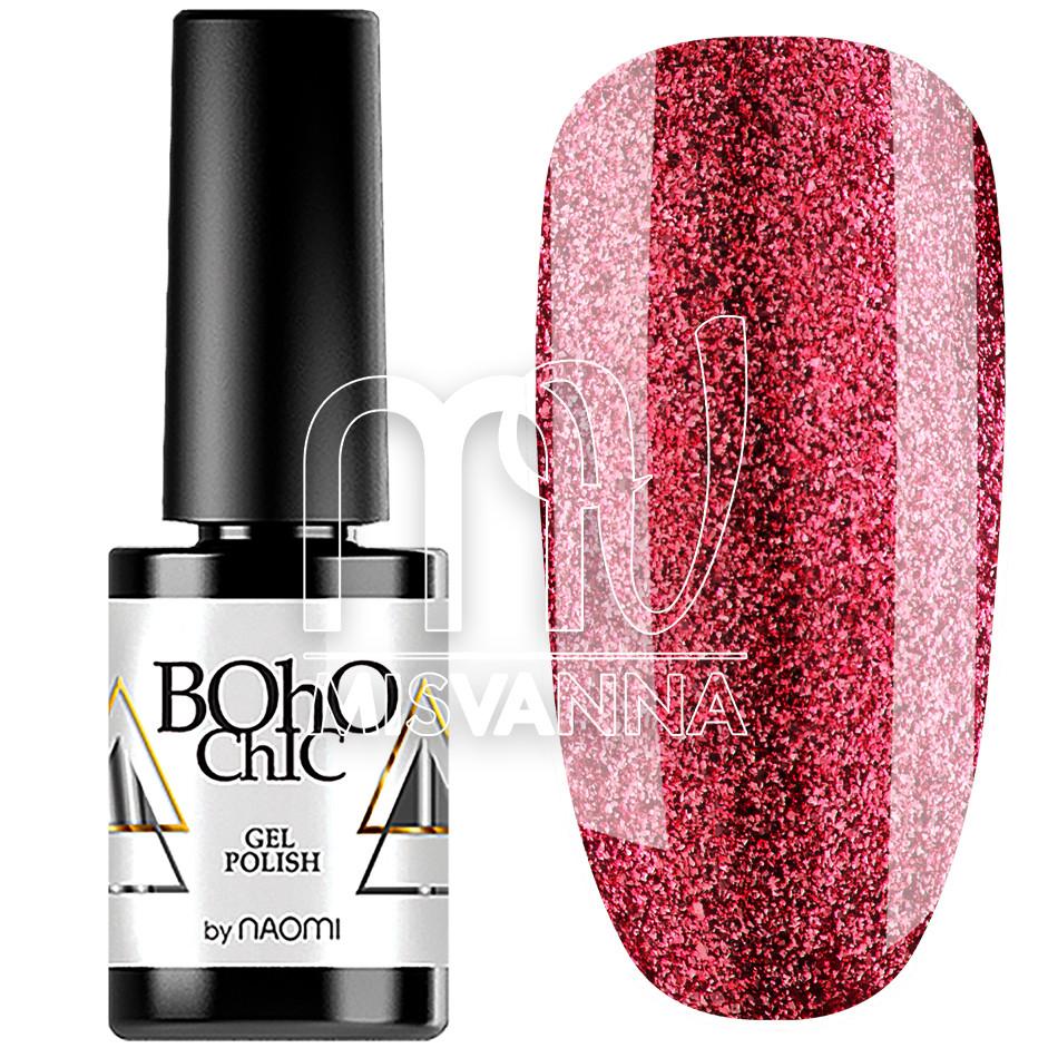 Гель-лак Boho Chic №124, 6 мл жидкий бриллиант вишневый
