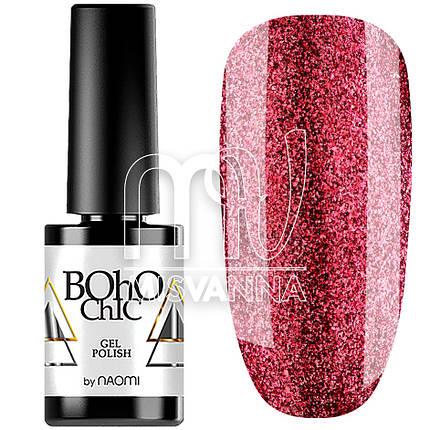 Гель-лак Boho Chic №124, 6 мл жидкий бриллиант вишневый, фото 2