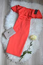 Новое миди платье с открытыми плечами и воланом New Look, фото 3