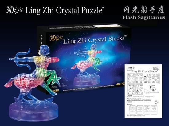 3D пазл 9047А кристалл Зодиак стрелец, светящийся