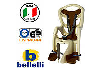 Велокрісло Bellelli Pepe Італія на багажник Коричневе, фото 1