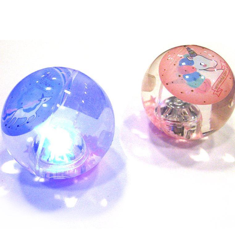 Мячик-попрыгунчик с подсветкой 60мм Unicorn CY088