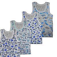 Майка детская для мальчика. Бельевые майки и футболки детские 104-110