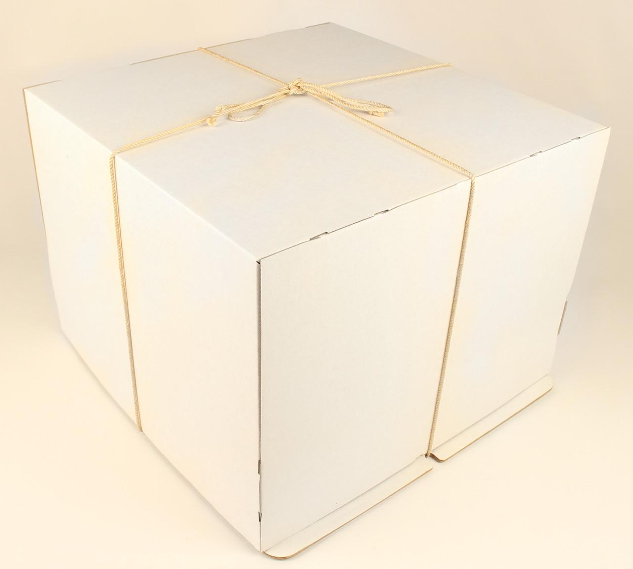 Коробка ГОФР / 460х460х475 мм / ГОФР-Белая / б.о. / для торт